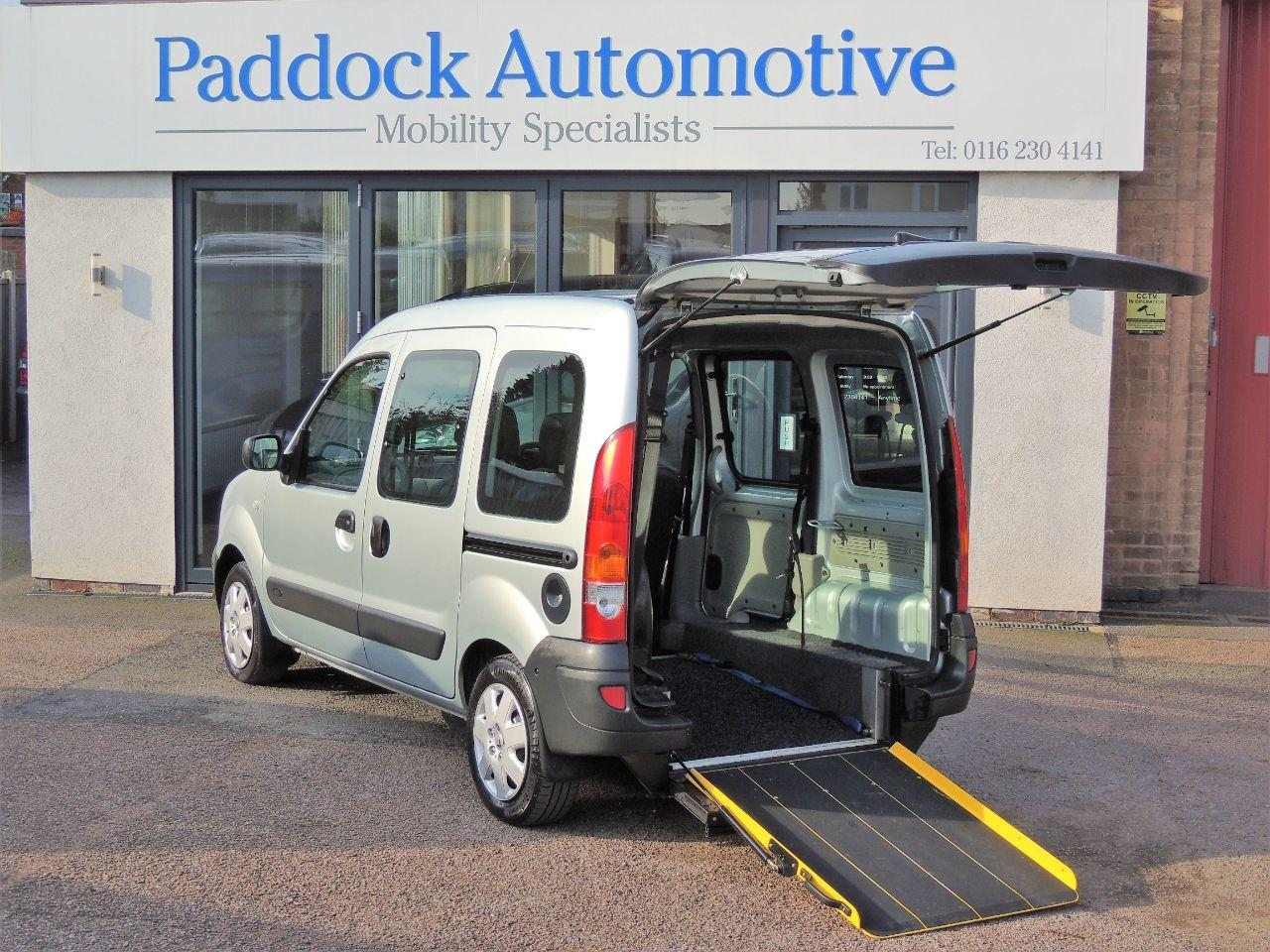 Renault Kangoo 1.5 dCi 68 Authentique Disabled Wheelchair Adapted Vehicle WAV Wheelchair Adapted Diesel Silver Mica