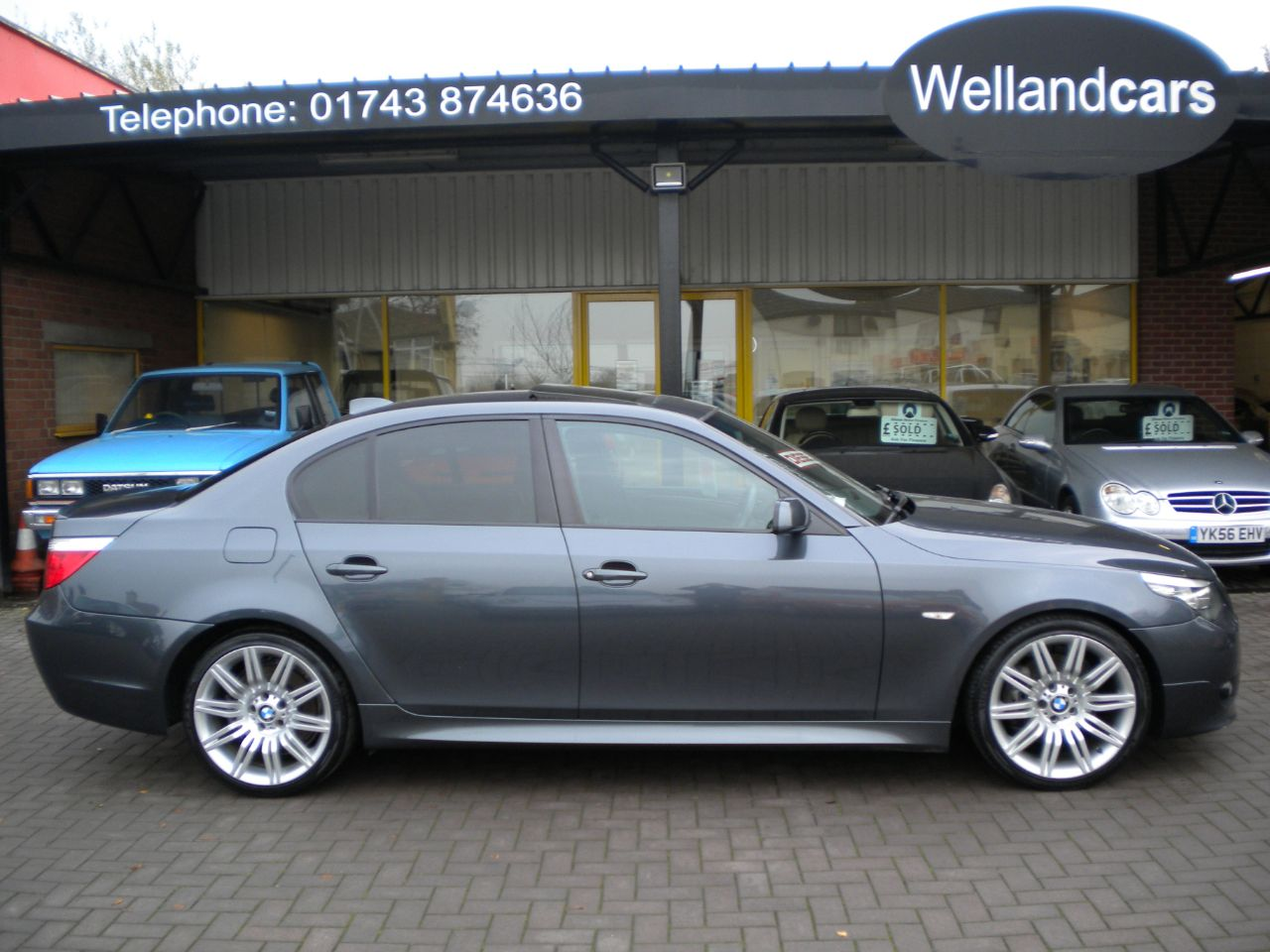 BMW 5 Series 3.0 530d M Sport 4dr 6 Speed Manual, Full BMW Service History, Navigation, Leather, 1 owner Saloon Diesel Grey at Welland Cars Shrewsbury