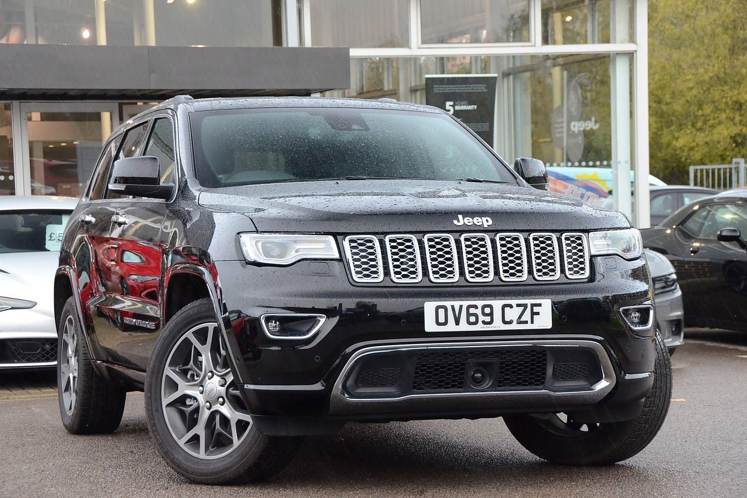 Jeep Grand Cherokee 3.0 Multijet II (247bhp) 4WD Overland Estate Diesel Diamond Black Crystal Metallic