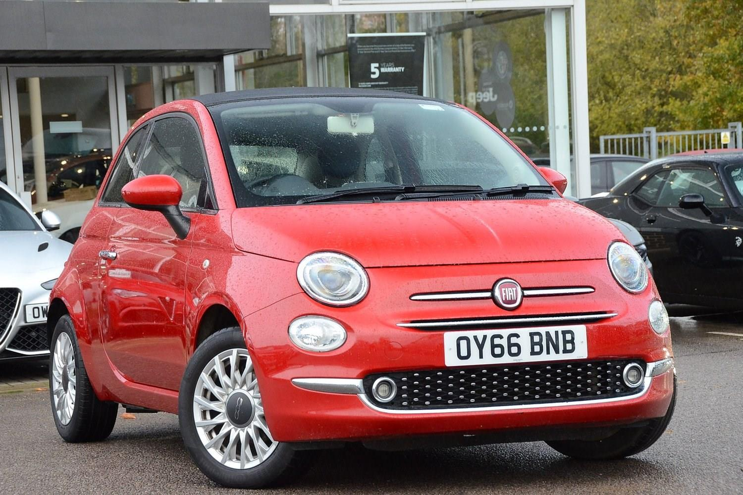 Fiat 500 1.2 Lounge Convertible Petrol Pasodoble Red