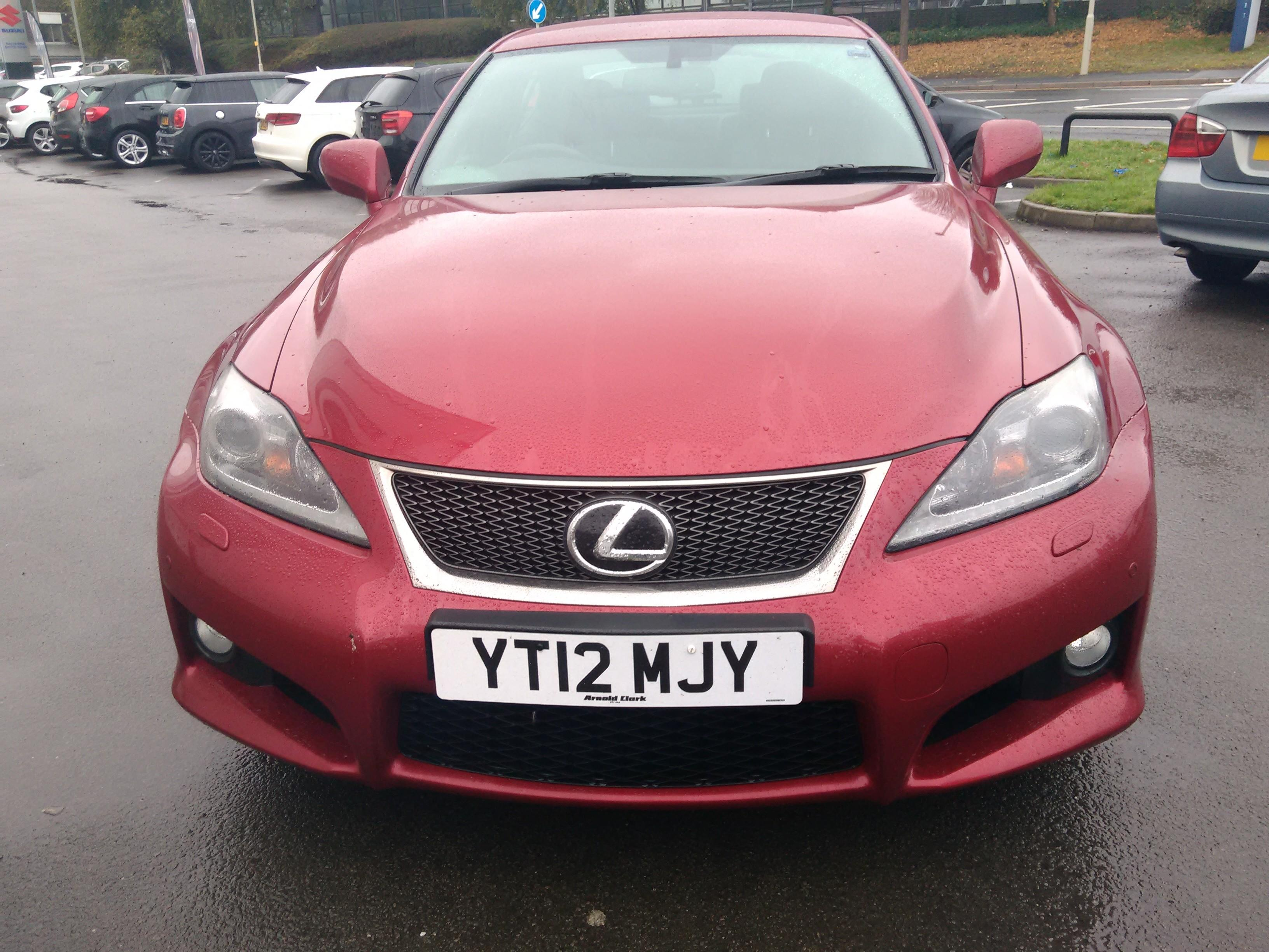 Lexus IS 5.0 V8 IS F 4dr Auto DRIVER MEMORY SEAT - LEATHER - PADDLE SHIFT - Saloon Petrol Red