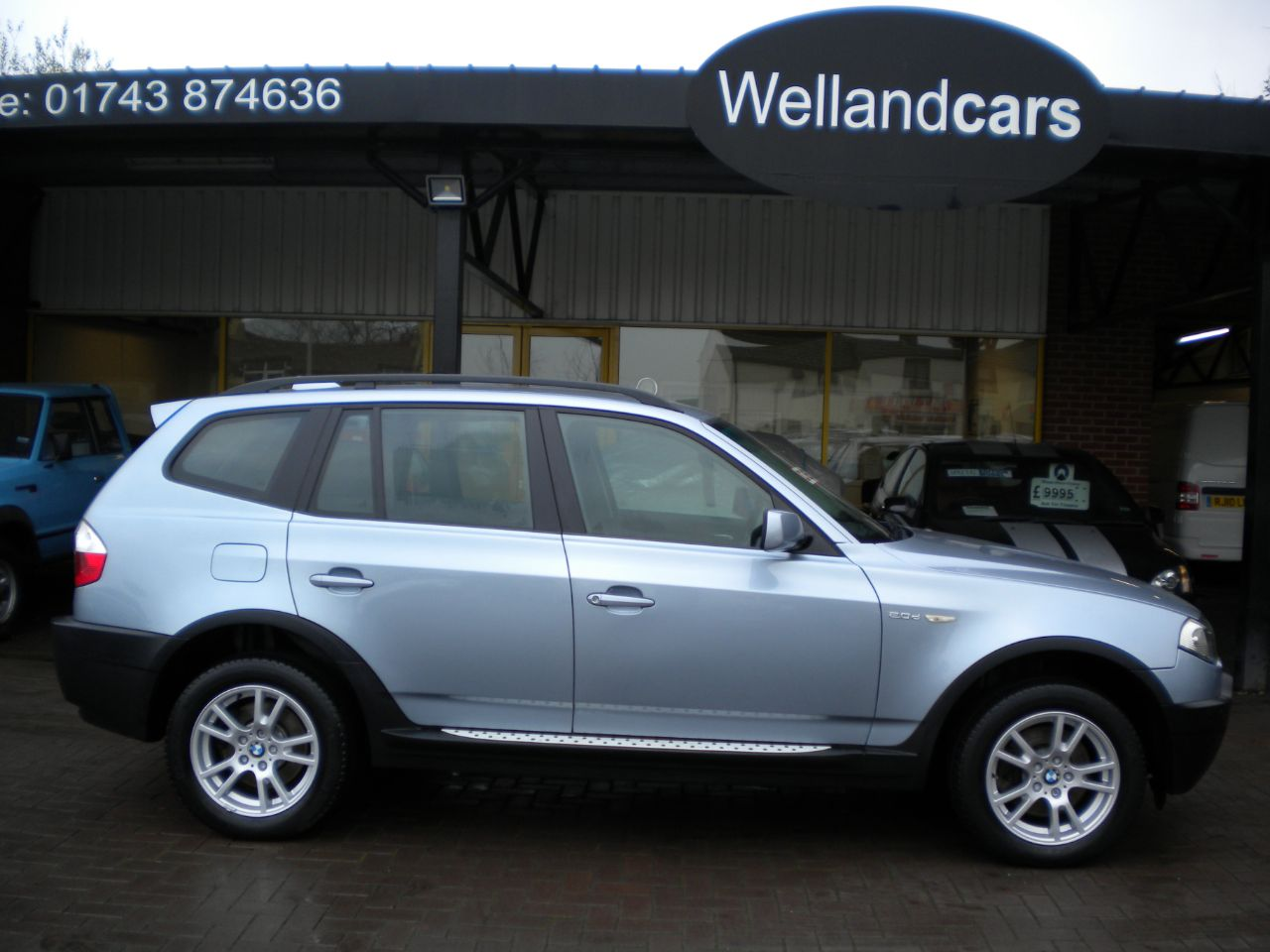 BMW X3 2.0d SE 5dr 6 Speed Manual, F/S/H, 1 Previous Owner, Cruise, A/C, Parking Sensors Estate Diesel Blue Water at Welland Cars Shrewsbury