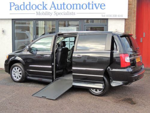 Chrysler Grand Voyager 2.8 CRD Limited Auto Drive From Up Front Disabled Wheelchair Adapted Vehicle WAV Wheelchair Adapted Diesel Black Mica