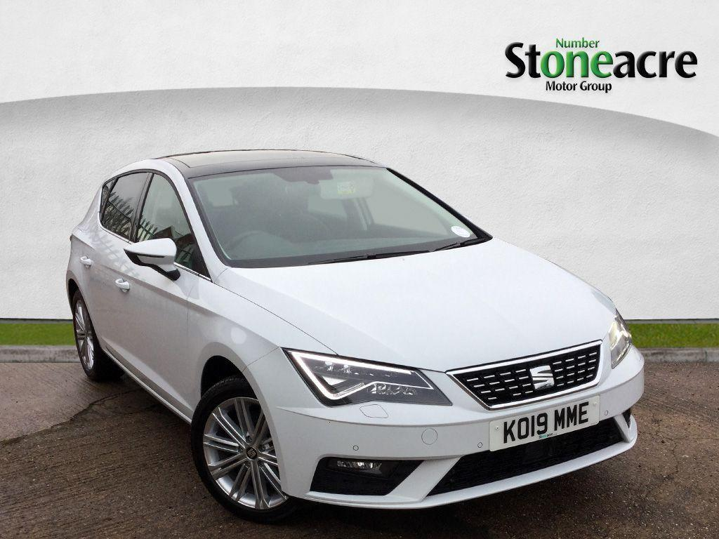 Seat Leon 2.0 TSI XCELLENCE Hatchback 5dr Petrol DSG (s/s) (190 ps) Hatchback Petrol White