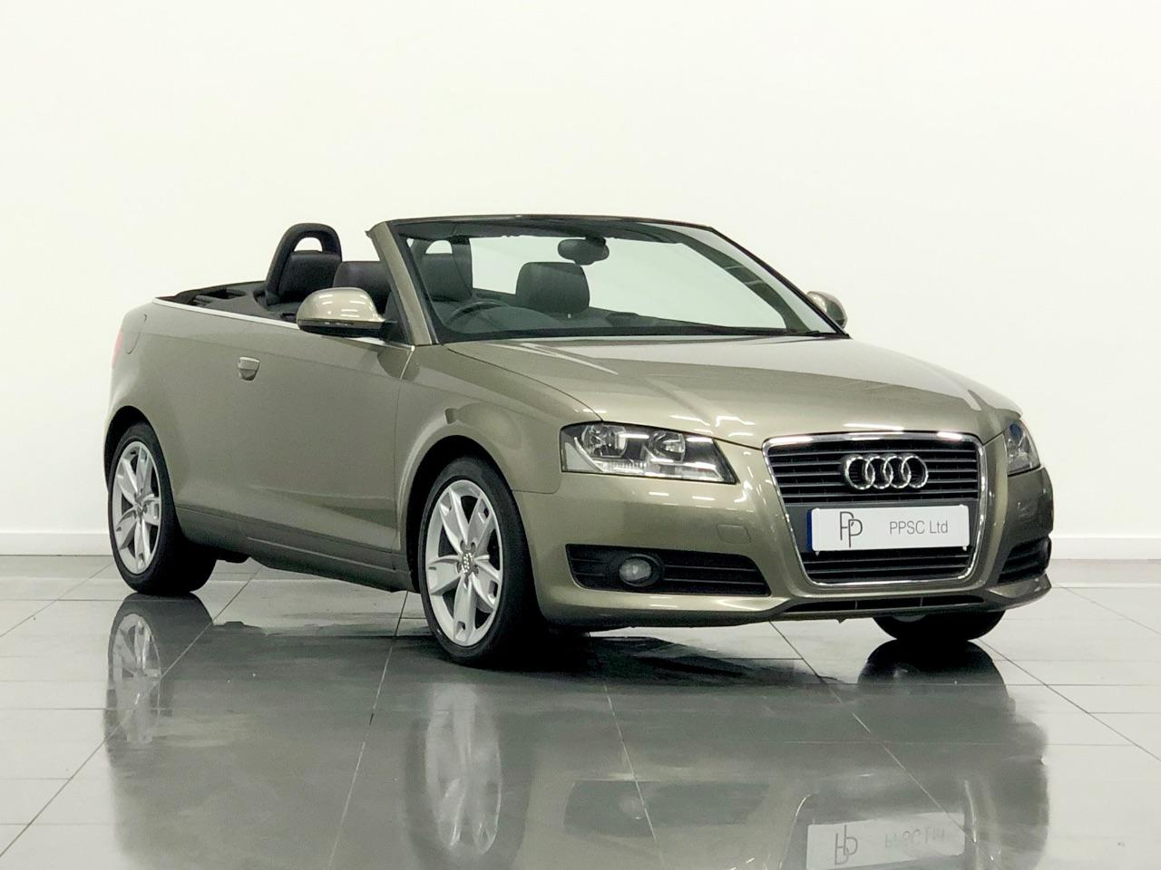 Audi A3 2.0 TDI Sport 2dr S Tronic Convertible Diesel Olive Gold
